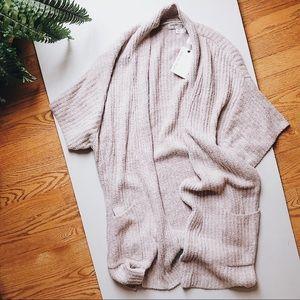 NWT Barefoot Dreams kimono sleeve cardigan size M